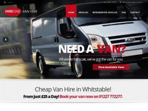 Hire One Van Hire Website