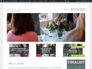 Julie Davies Flower Workshops Website