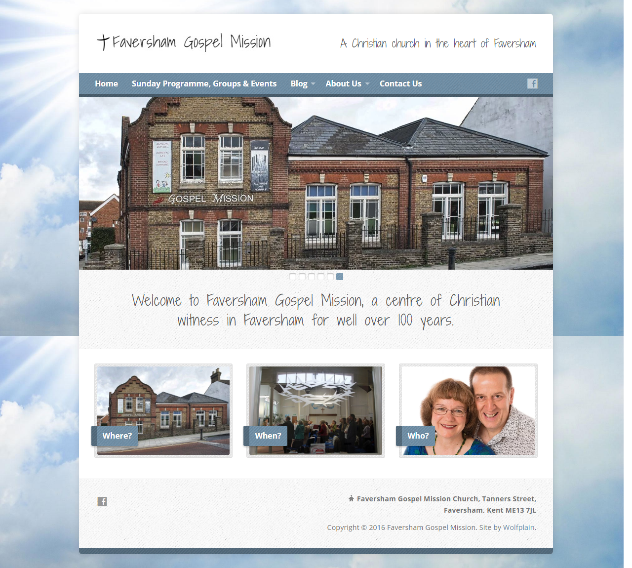 Faversham Gospel Mission Website