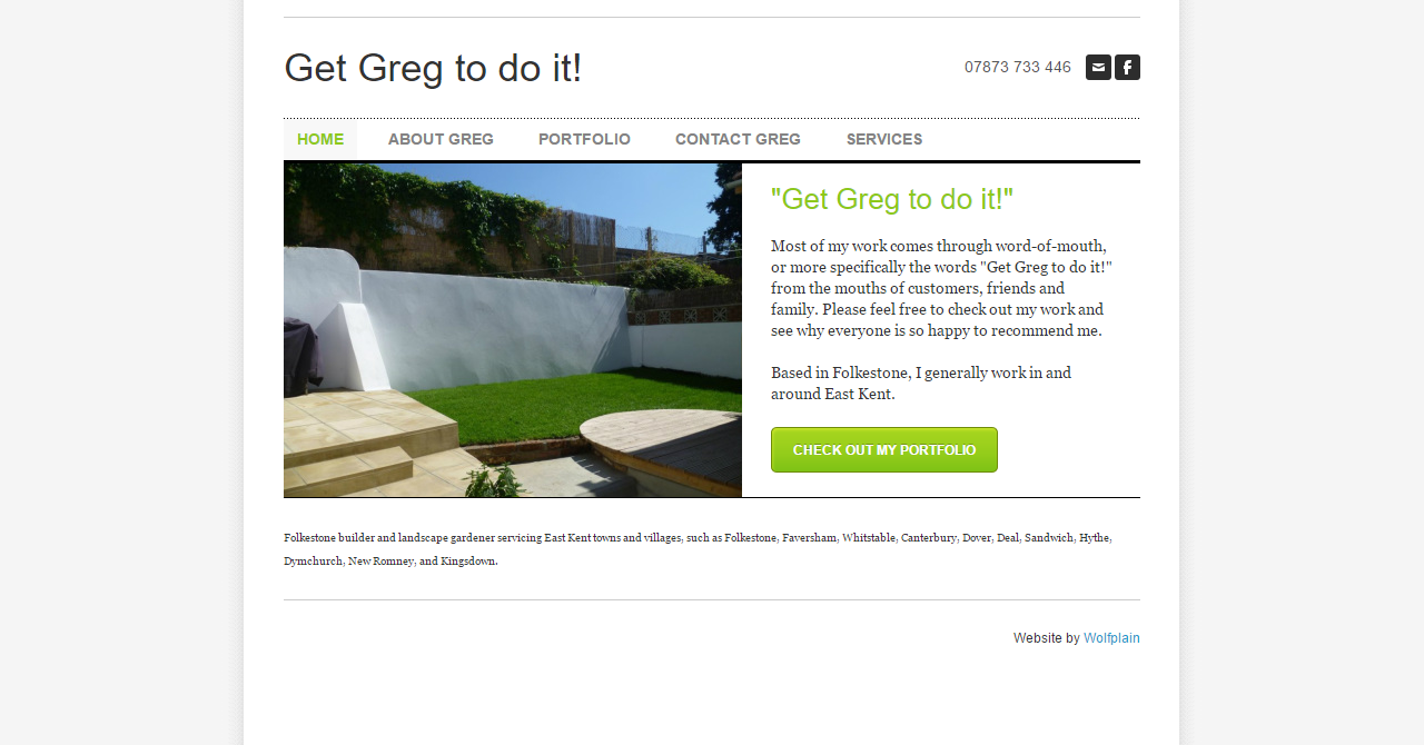 Get Greg To Do It Website