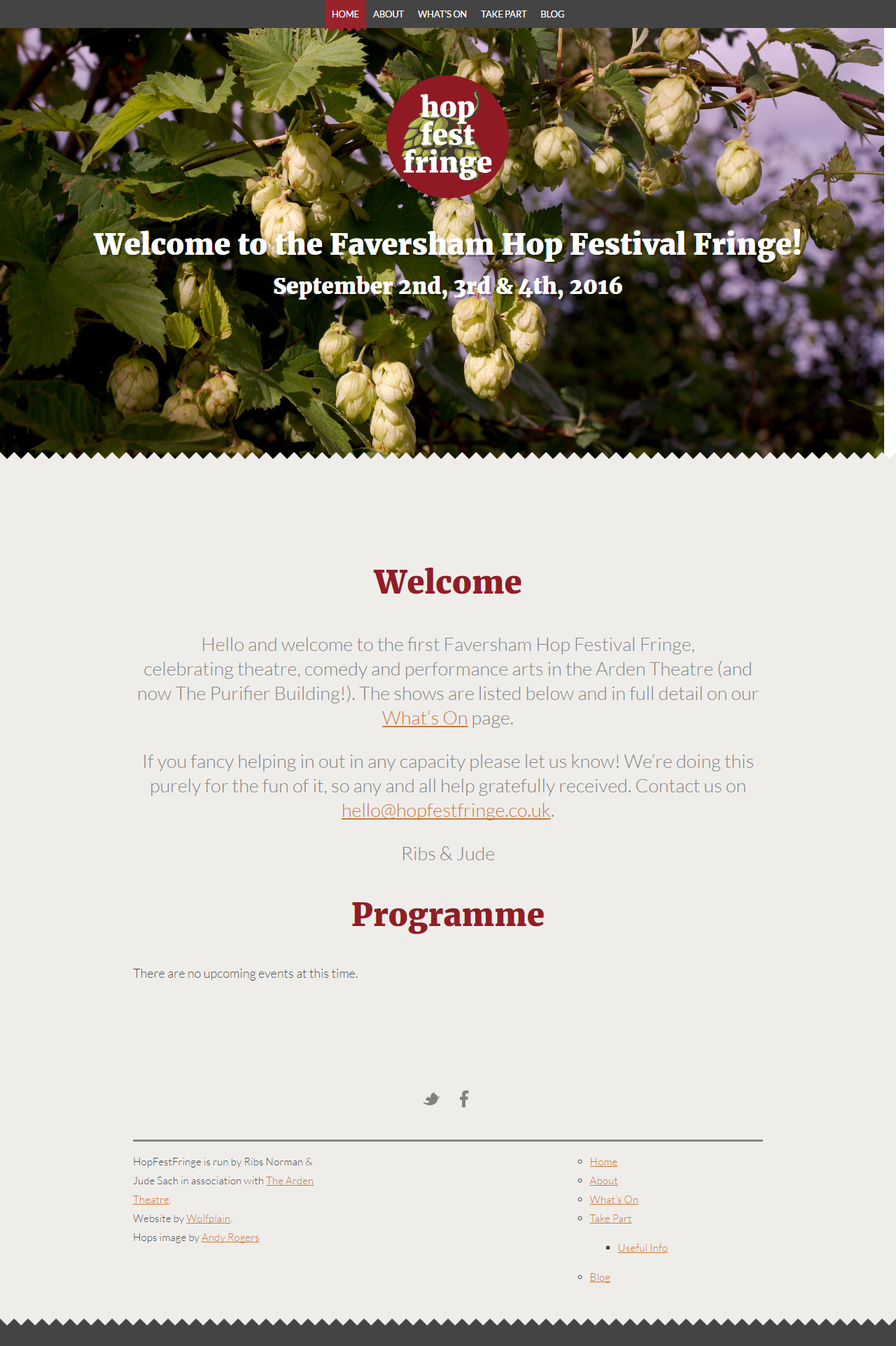 HopFestFringe Website